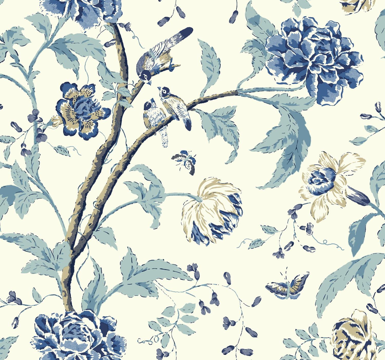 Teahouse Floral Wallpaper