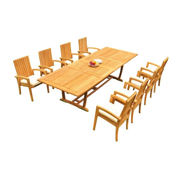 Ali F Radtke Personal Blog Grade A Teak Dining Set 8 Seater 9 Pc 118 Mas Rectangle Trestle Leg Table And 8 Goa Stackng Arm Chairs Outdoor Patio Wholesaleteak 51go1509
