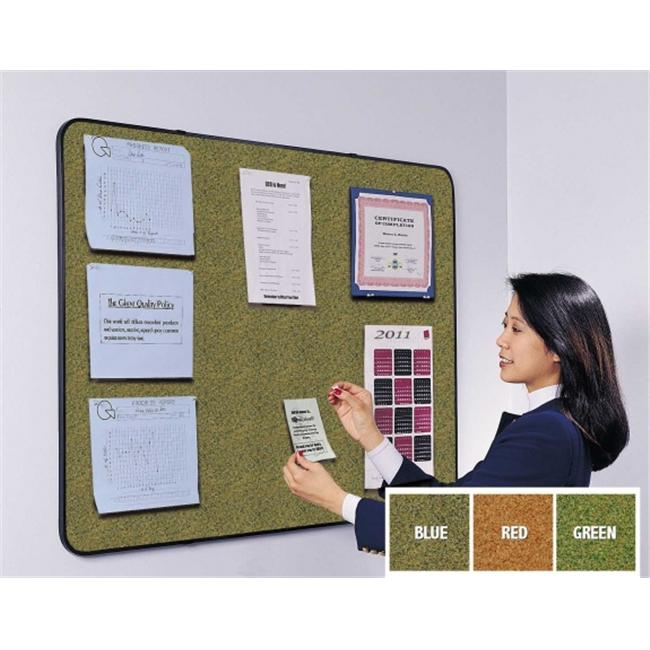 Ghent TG18-RD 18 in. x 24 in. Gemini Tackboard with Black Vinyl Frame - Red