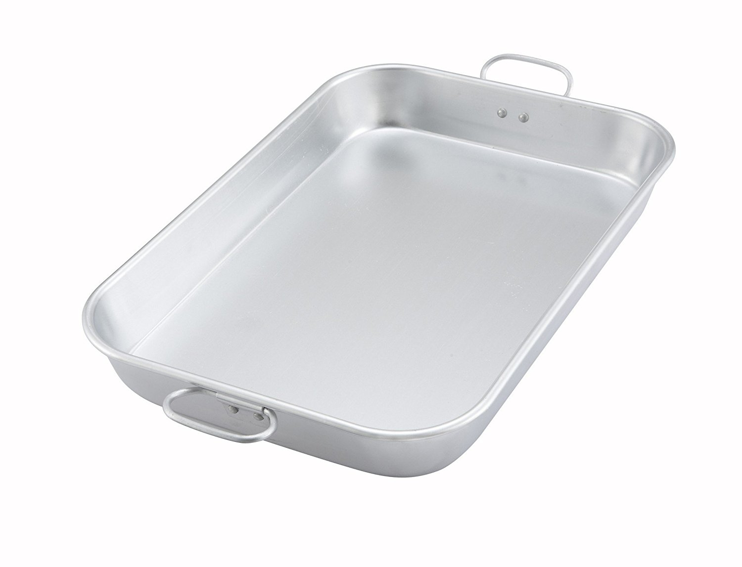 """ALBP-1218, 17-3 4""""L x 11-1 2""""W x 2-1 4""""H Aluminum Bake And Roasting Pan With Drop Handle,... by"""