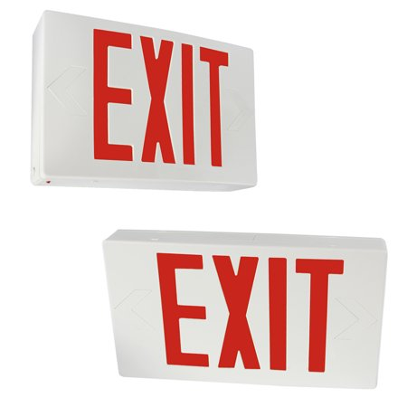 Led Exit Sign (eTopLighting [2 Pack] LED Exit Sign Emergency Light, Red Letter, Battery Back-up, Extra Face Plate Included, Fully Automatic Operation, Ceiling or Wall Mounting, Side Mounting, WMLS4352)
