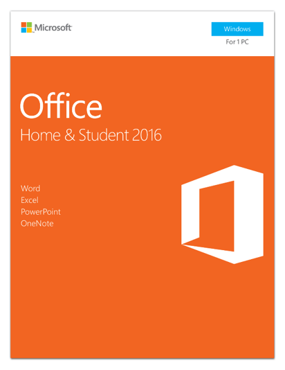Microsoft Office Home and Student 2016 Box pack 1 PC non-commercial medialess Win English North America by Microsoft