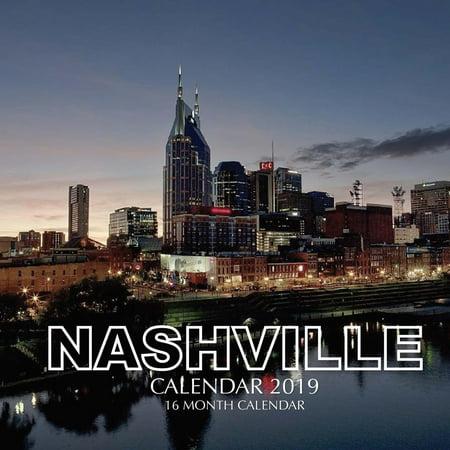 Nashville Calendar 2019: 16 Month Calendar (At A-glance Colored Calendar)