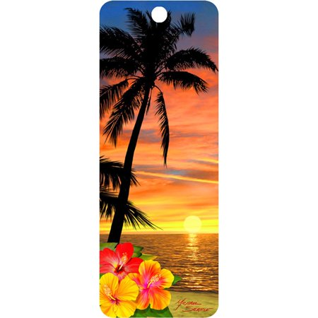 Palm Tree at Sunset 3D - 3d Bookmark