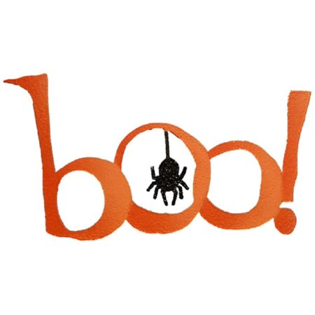 Boo Word For Halloween (Roeda Brighten Your Life 13206O Boo word with Glittered Spider Halloween Magnet Made in USA, Materials: metal, magnet By Embellish Your)