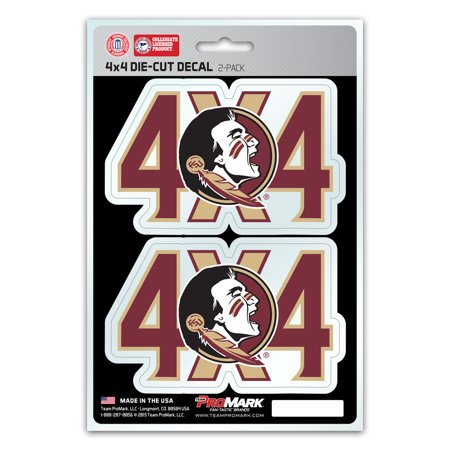 - Florida State Seminoles 4X4 Team Decal 2-Pack Set - No Size