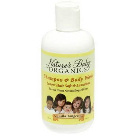 Nature's Baby Organics Shampoo & Body Wash, Vanilla Tangerine, 8 fl