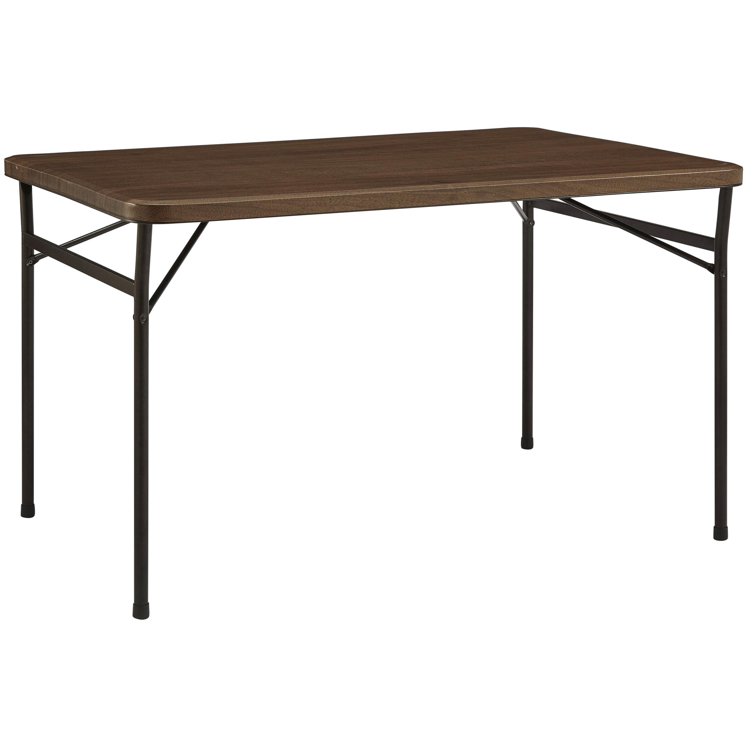 "Mainstays 48"" Faux Wood Folding Table, Walnut by New Tec Integration Xiamen Co., Ltd."