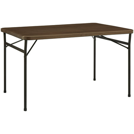 Rectangular Walnut Folding Table - Mainstays 48