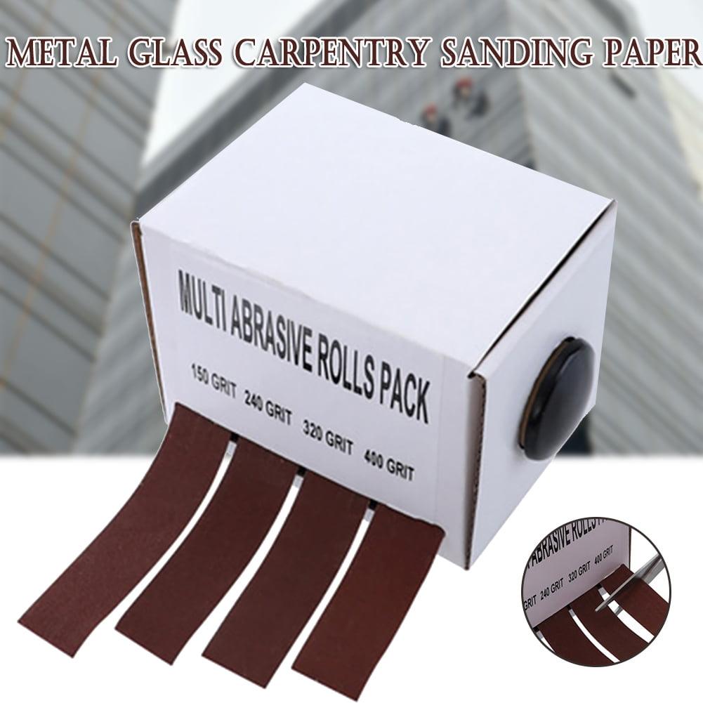 Emery Cloth Roll Tape Sanding Paper 150//240//320//400 Grit 25mm X 6M Abrasive