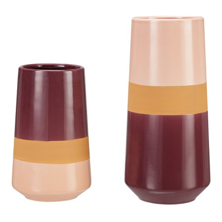 Better Homes & Gardens 2-Piece Tri-Color Vase Set, Multiple Colors