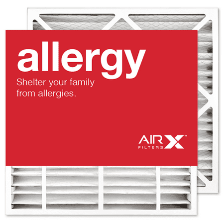 Merv 11 Bryant Replacement - AIRx Filters Allergy 24x25x4 Replacement Air Filter MERV 11 for Bryant Carrier EXPXXFIL0024 EXPXXFIL0324 FILBBCAR0024 FILBBCAR0124 FILBBFTC0024, 2-Pack