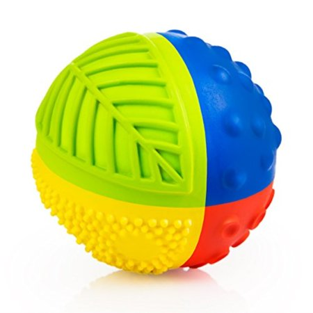 "100% Pure Natural Rubber Sensory Ball (3"") - BPA, Phthalates, PVC Free, Certified Non-Toxic (1 RAINBOW)"