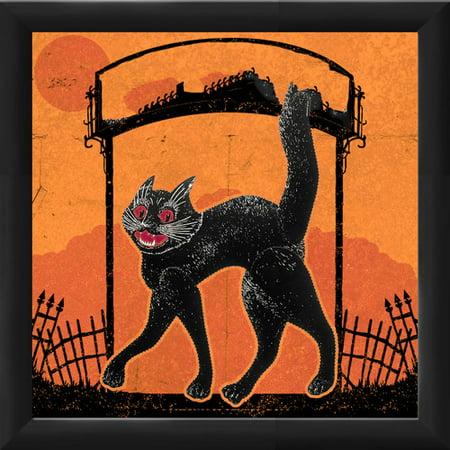 PTM Images Halloween Cat Framed Graphic Art - Halloween Frans
