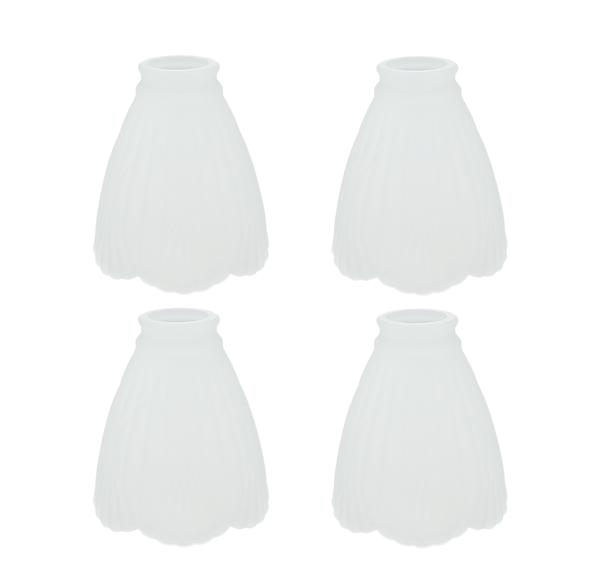 2 Fitter Size Aspen Creative 23061-4 Clear Transitional Style Shade 4 Pack Replacement Glass, 5-1//4 high x 4-7//8 Diameter