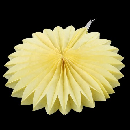 Tissue Paper Folding Fan Flower Yellow for Party Store Window Wedding Home Decor - image 3 of 4