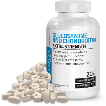 Bronson Glucosamine and Chondroitin Extra Strength 1500mg Chondroitin Sulfate 1200mg, 60 Tablets Chondroitin Sulfate 30 Tablets