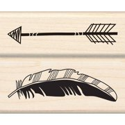 "Inkadinkado Mounted Rubber Stamp, Set 2.75"" x 2.25"", Feather Arrow"