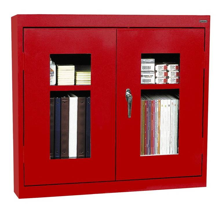 See-Thru Clearview Wall Storage Cabinet (Small - Red)