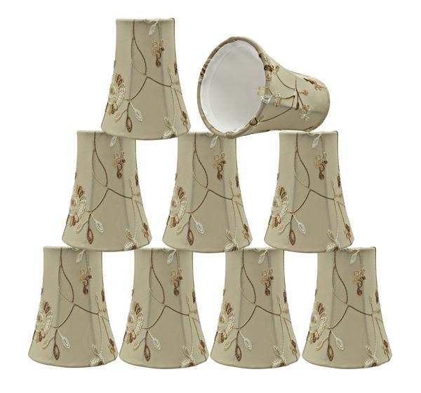 Aspen Creative 30243-6 Small Bell Shape Chandelier Clip-On Lampshade Set (6 Pack), Transitional Design in Apricot,... by Aspen Creative Corporation