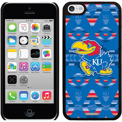 University of Kansas Tribal Design on Apple iPhone 5c Thinshield Snap-On Case by Coveroo