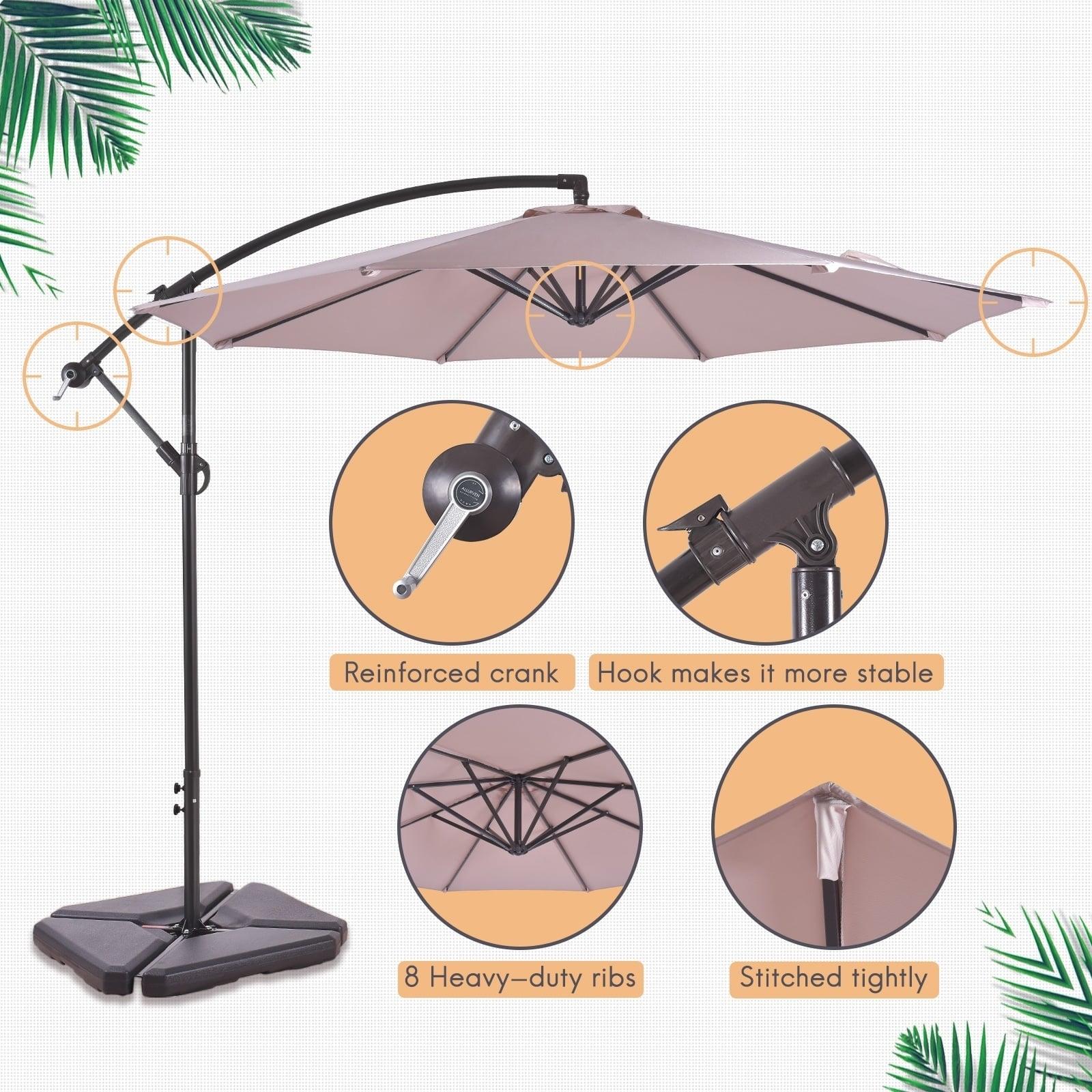 c597d5ed72c8 Weller 10 Ft Offset Cantilever Hanging Patio Umbrella - Walmart.com