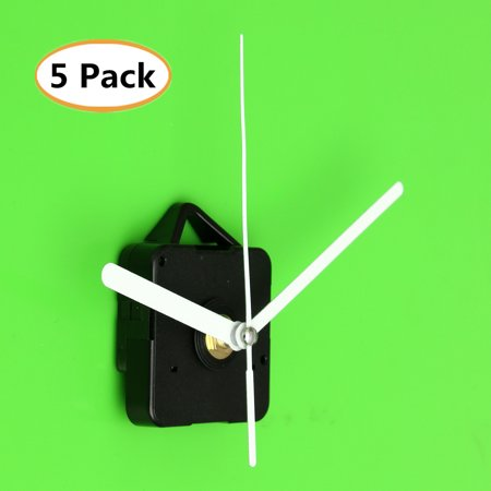 5 Pack DIY Mechanism Quartz Clock Movement Repair Parts Kit with White Hands Mute Home Bedroom Wall Clock ()