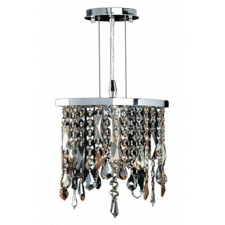 Fiona Collection 1 Light Chrome Finish Multi-colored Crystal Pendant 10