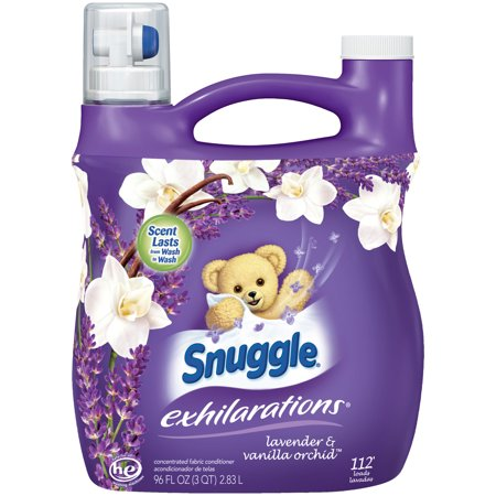 Snuggle Exhilarations Liquid Fabric Softener, Lavender & Vanilla Orchid, 96 Ounce, 112 Loads