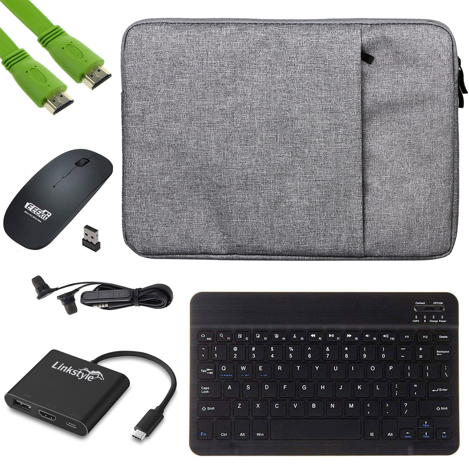 11 sleeve carry case usb c to hdmi usb 3 0 pd hub adapter bluetooth wireless keyboard mouse. Black Bedroom Furniture Sets. Home Design Ideas