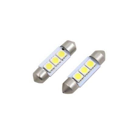 2Pc 36mm Blanc Froid 5050 3 LED SMD D me Festoon Lampe Liseuse Int pour Voiture - image 4 de 4