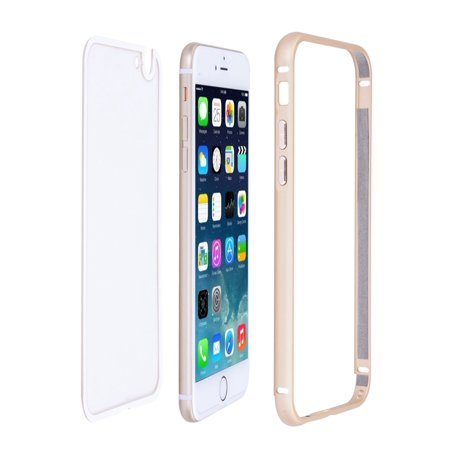 Ultra-thin Aluminum Metal Bumper Case Clear Back Cover For Apple 4.7 iPhone