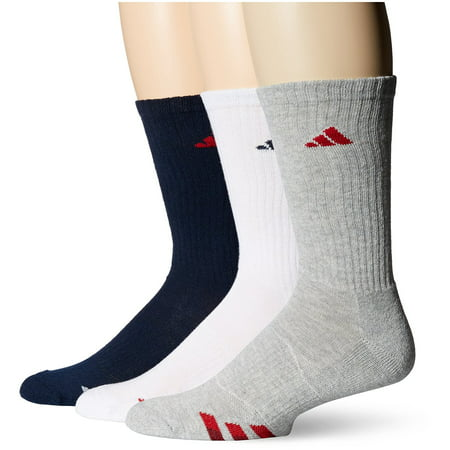a5b05aa408d8f 3-Pack Clothing & Accessories adidas Mens Cushioned Color Crew Socks