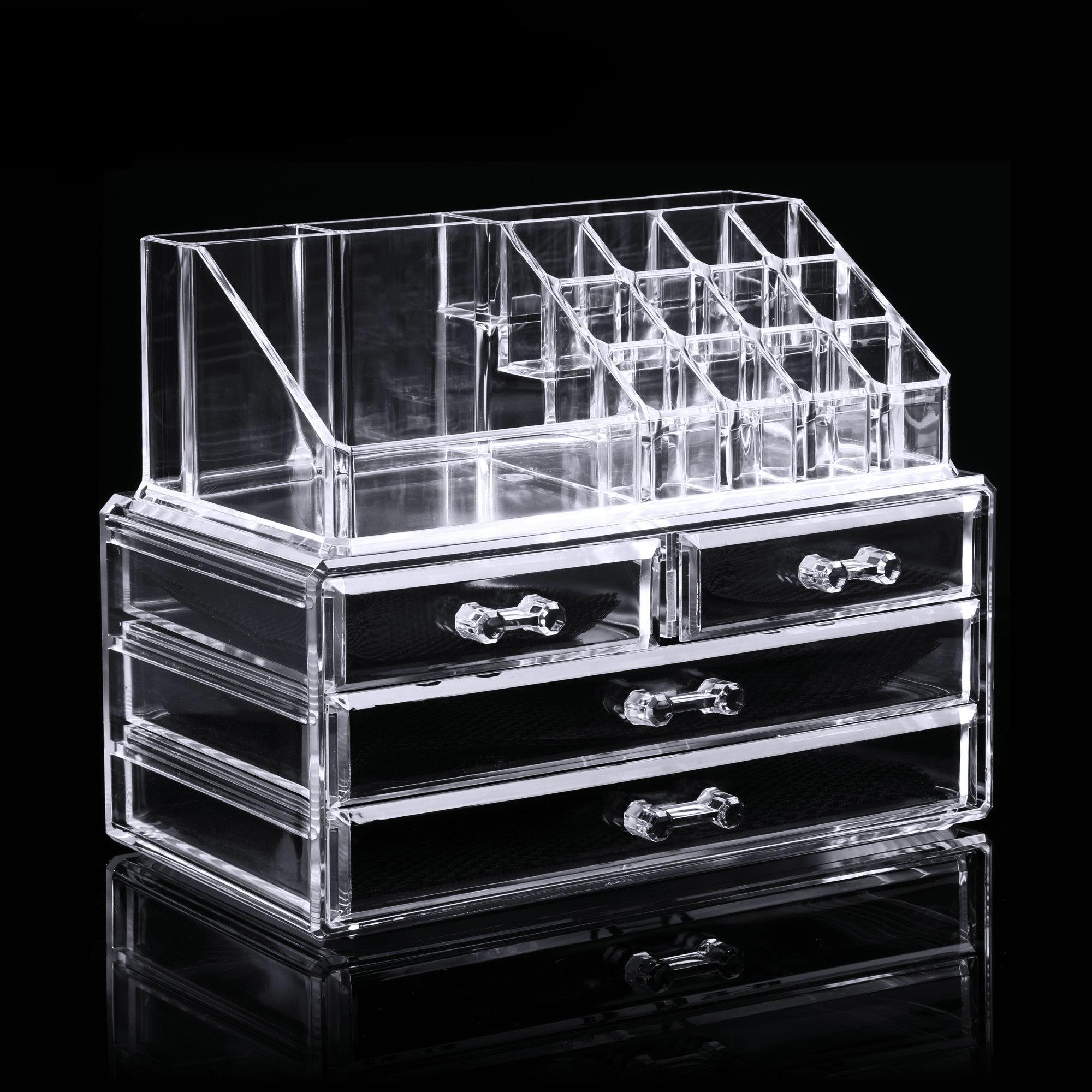 OCTAP Big Clearance Clear Acrylic Makeup Cosmetic Drawers Grids 2