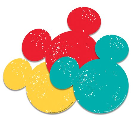 (6 Pk) Mickey Mouse Paper Cut Outs - Mickey Mouse Cut Out