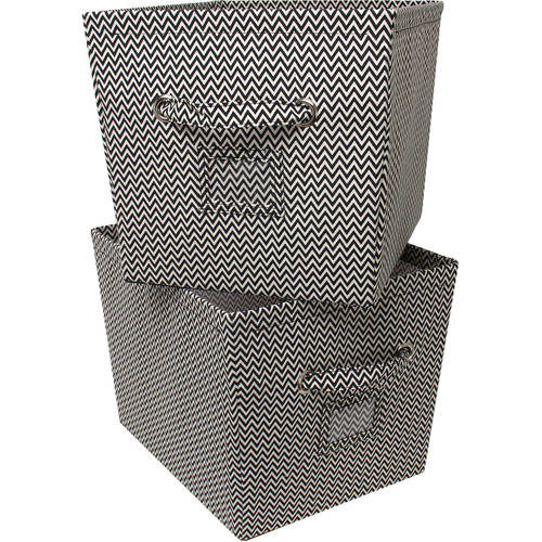 Mainstays Large Canvas Bins, 2pk