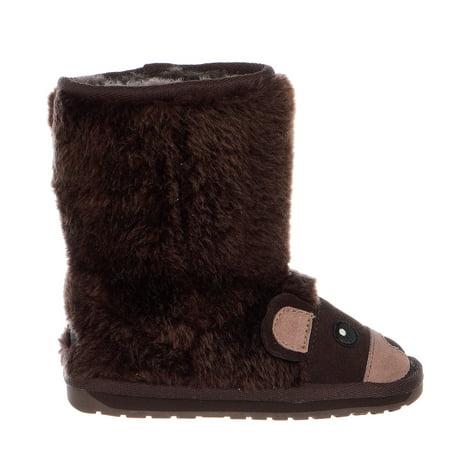 Emu Australia Unisex Brown Bear Boots  - Kids
