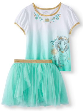 9f06ed87a Product Image Princess Jasmine Tee and Blouson Foil Mesh Skort, 2-Piece  Outfit Set (Little