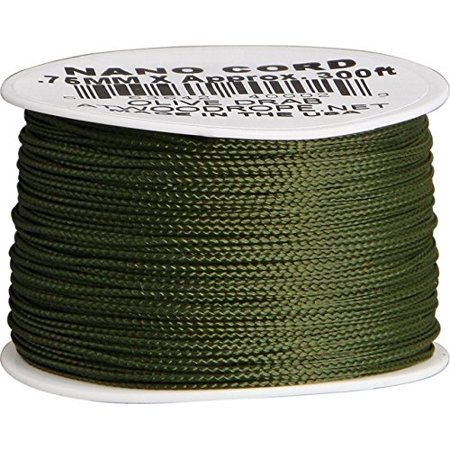Sale Parachute Cord (Nano Cord Olive 75mm x 300ft, 36 lbs Test By Parachute Cord )
