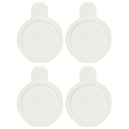 White Smooth Lid - CorningWare Visions Grab It P-150-CPC 15oz White Plastic Lid (4-Pack)