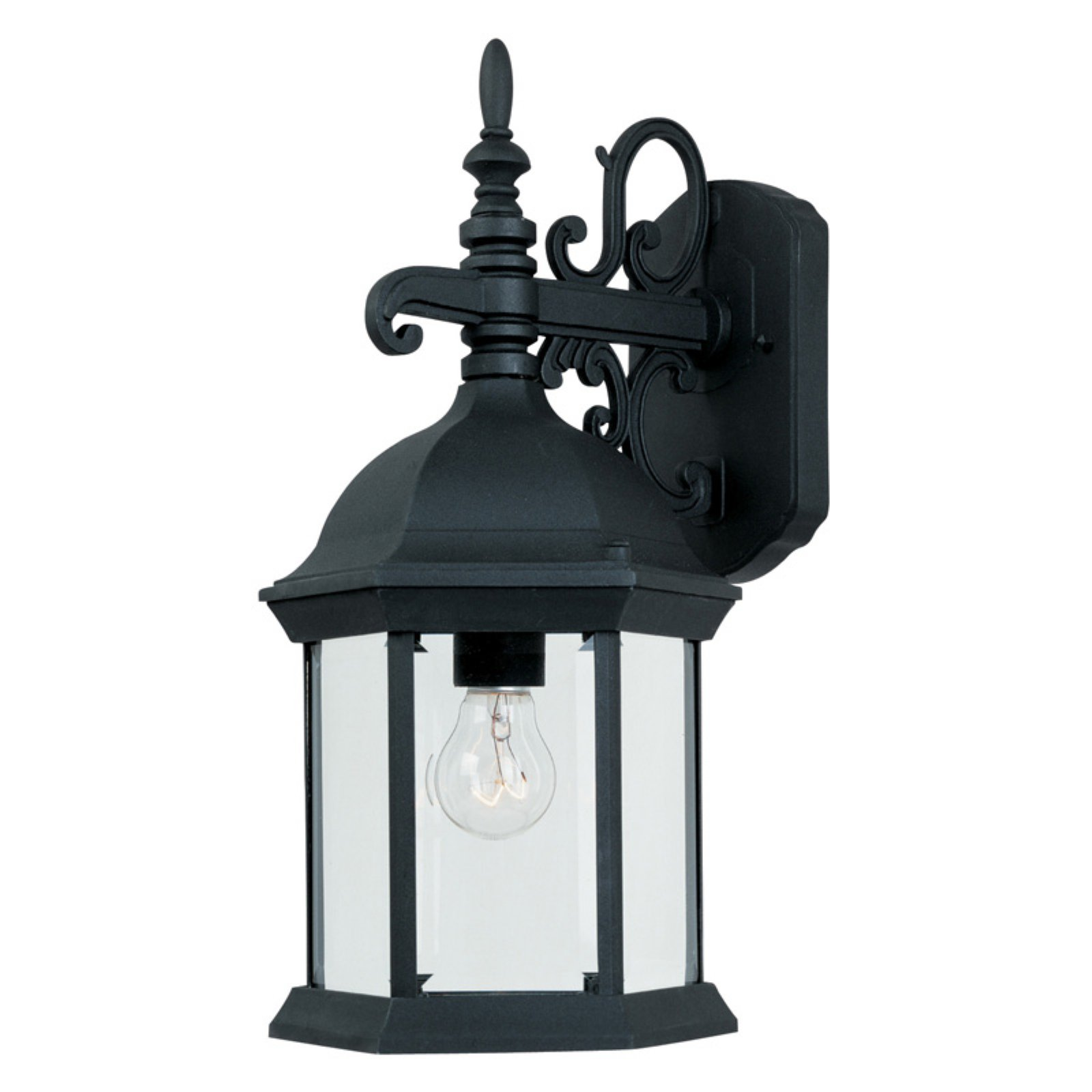 Designers Fountain Outdoor 2971-BK Devonshire Wall Lantern