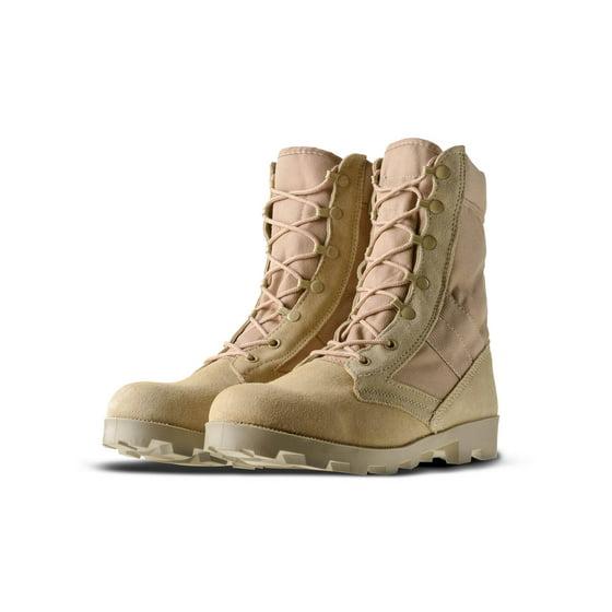 """678c5c36dbd Ameritac 9"""" Side Zip Suede Leather Combat Work Outdoor Men's Desert Tan  Boots"""