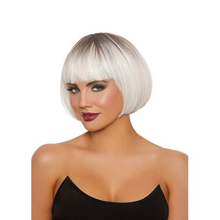 Dreamgirl Women's Dip Dye White/Gray Short Bob Wig - image 1 de 1