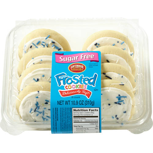 Lofthouse Sugar Free Frosted Cookies, 8 ct, 10.9 oz