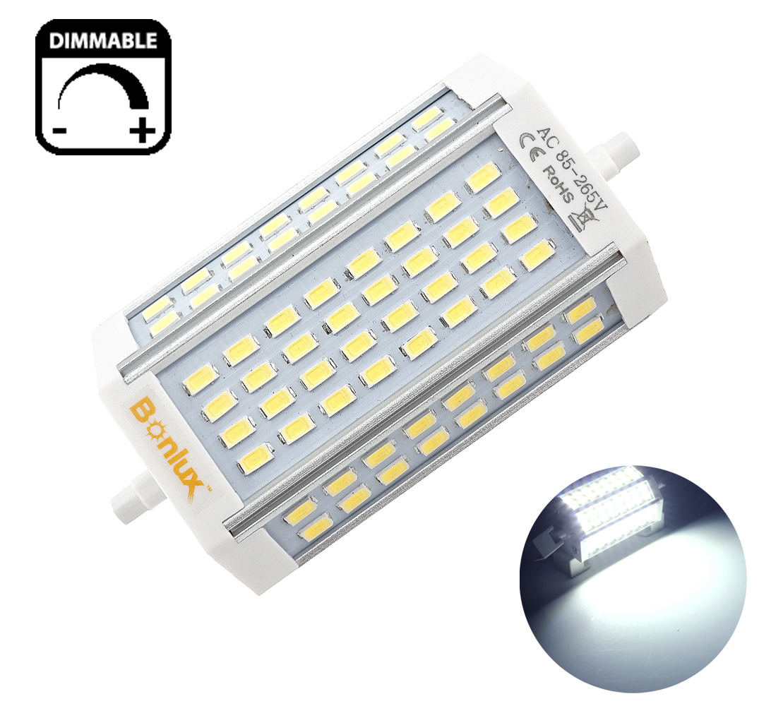 Bonlux 30W Dimmable R7S J118 LED Double Ended J Type 200W Halogen R7S LED Floodlight Replacement Lamp, Daylight 6000k