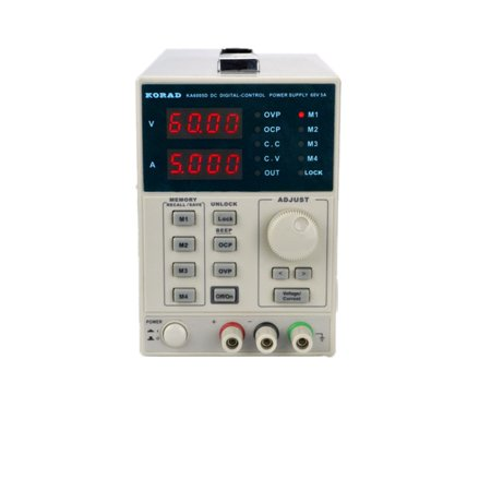 KORAD KA6005D -Precision Variable Adjustable 60V, 5A  DC Linear Power Supply Digital Regulated Lab Grade 10a Linear Power Supply