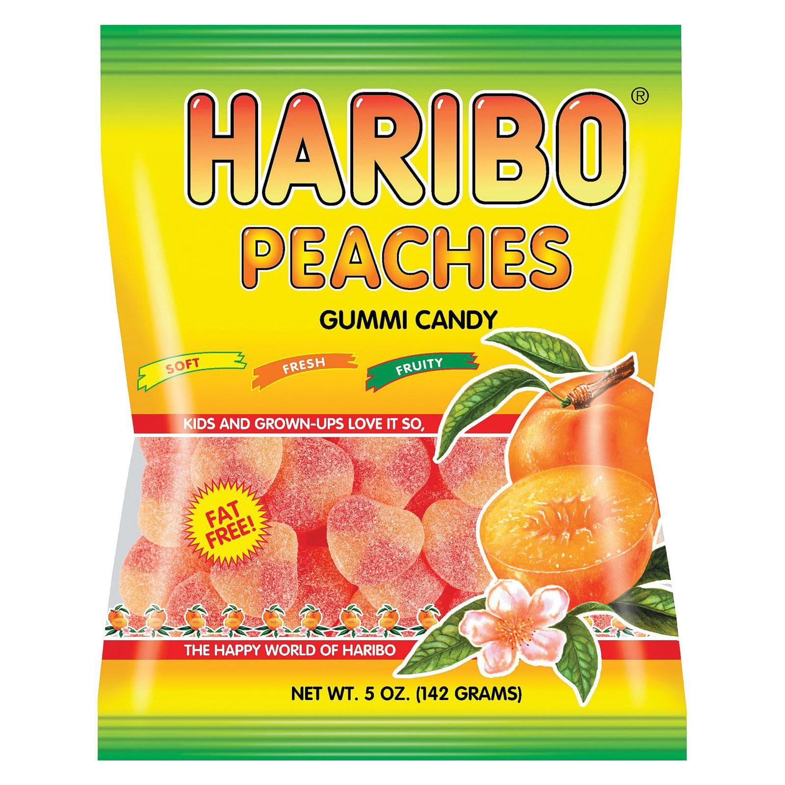 Haribo Peaches - Natural - pack of 12 - 5 Oz.