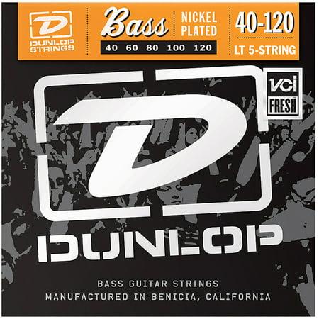 Dunlop DBN40120 Nickel Light 5 String Stainless Steel Bass Guitar Strings