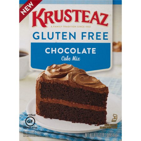 (12 Pack) Krusteaz Gluten Free Chocolate Cake Mix 18 oz. Box