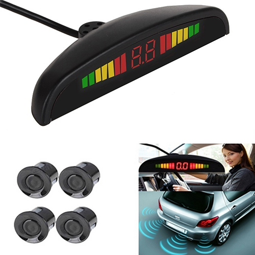 Car Auto Parking Reverse Backup Sensors LED Display Buzze...